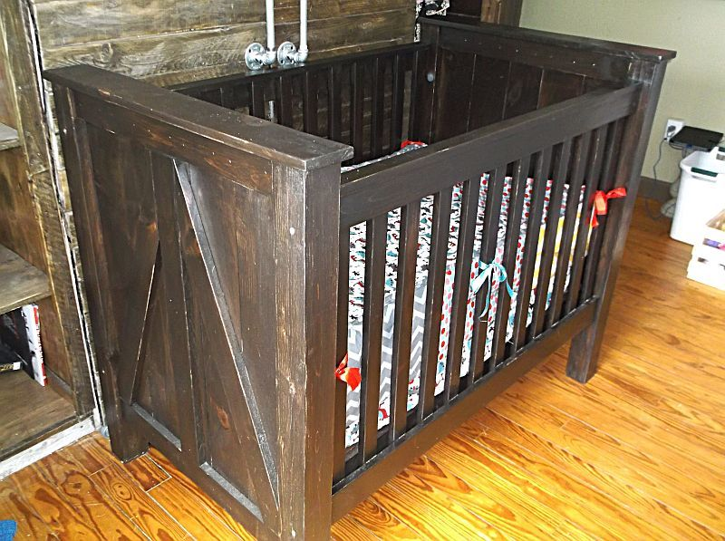 Buy A Custom Made Rustic Baby Crib Made From Solid Wood
