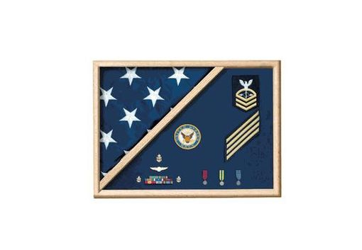 Custom Made Memorial Flag Case - Folded Corner