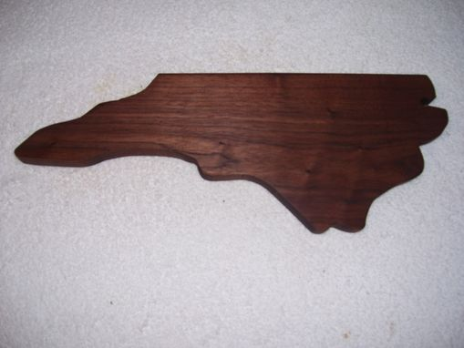 Custom Made North Caroline Cheese And Cracker Cutting Board Made From Walnut