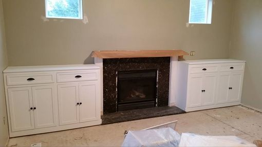 Custom Made Custom Cabinet/Shelving And Mantle