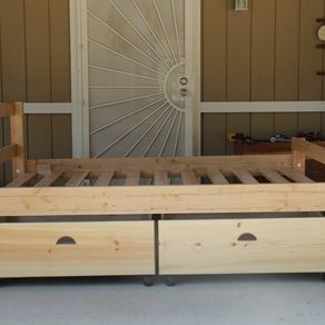 Custom Bedroom   CustomMade com Early American Rustic Storage Bed by James Scott. Custom Bedroom Furniture. Home Design Ideas