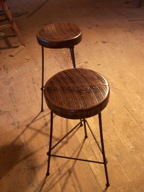 Buy Hand Made Reclaimed Wood Bar Stools With Industrial  : 24078873305 from www.custommade.com size 570 x 760 jpeg 68kB