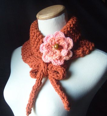 Custom Made Knit Cowl Neckwarmer In Pumpkin / On Sale Now