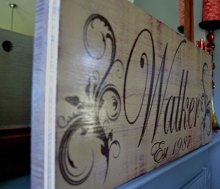Custom Made Custom Wood Sign, Family Name Sign, Established Date Sign