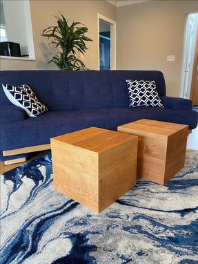 Custom Made Solid Wood Cherry Ottoman