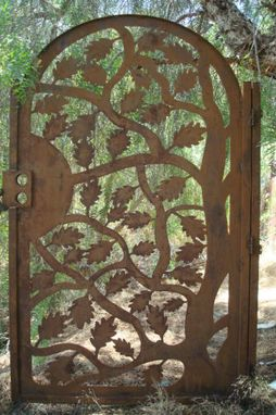 Custom Made Gate Metal Custom Garden Entry Walk Thru Pedestrian Gates Ornamental Iron