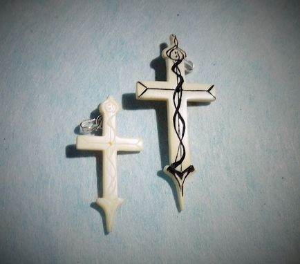 Custom Made Holy Cross Hand Carved Mammoth Christian Pendants Rosary