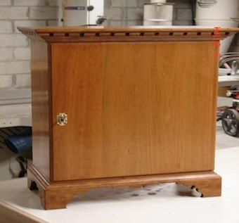 Custom Made Cherry Spice Cabinet