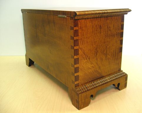 Custom Made Tiger Maple Chest With Drawers