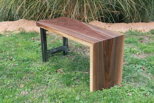 Custom Made Walnut Waterfall Benches