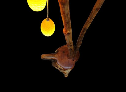 Custom Made Yew Stand Alone Pendant Floor Lamp