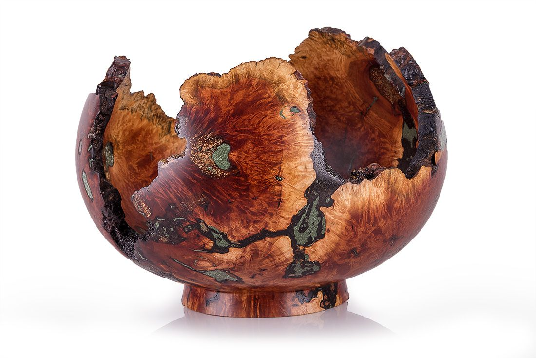 Hand Made Raw Live Edge Manzanita Or Buckeye Wood Bowl