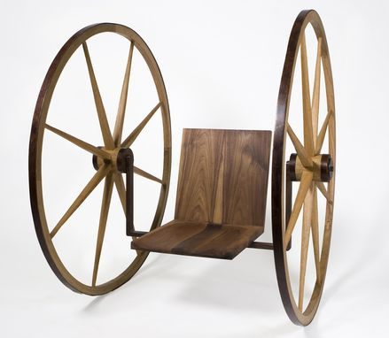 Custom Made Wagon Wheel Chair