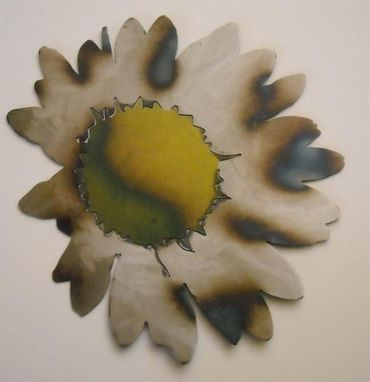 Custom Made Daisy Metal Wall Art Sculpture