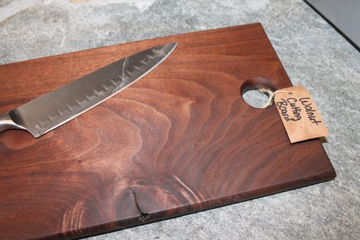Custom Made Solid Walnut Cutting Board With Hole