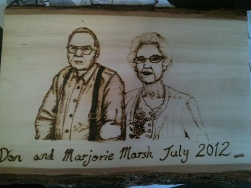 Custom Made Wood Burned Portrait