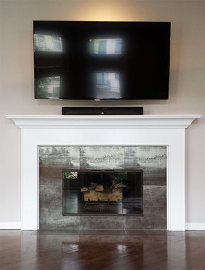 Custom Made Modern Roscoe Wood Mantel