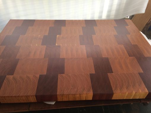 Custom Made End Grain Jatoba And Cherry Island Top