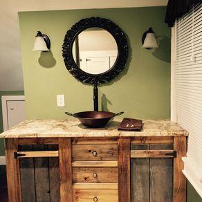foxden fox from vanity rustic decor and pin linen barnwood sink den bathroom vanities consoles with reclaimed world cabinet old