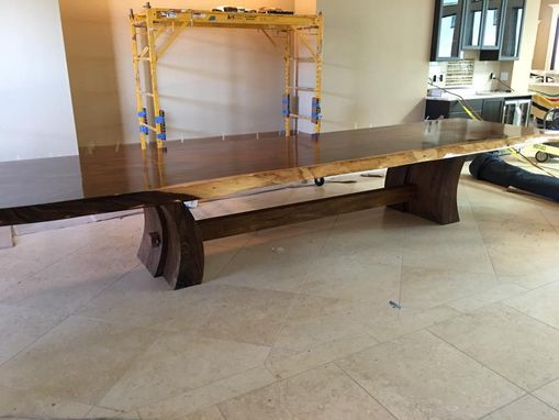 Custom Made Extra Long Parota Slab Table