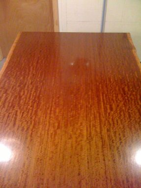 Custom Made Makore Slab Desk