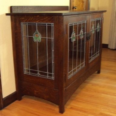 Custom Made Stained Glass Inserts For Furniture Or Millwork.