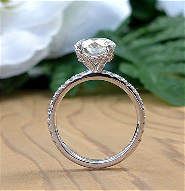 Custom Made 3.05 Carat Diamond Platinum Engagement Ring