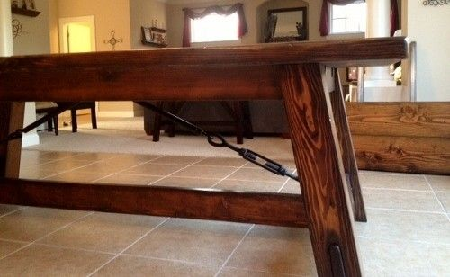 Custom Turnbuckle Table By Rustic Elements Furniture