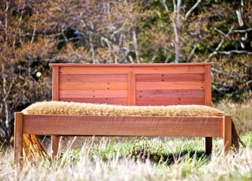 Custom Made Bed Made With Salvaged Dark Red Merranti
