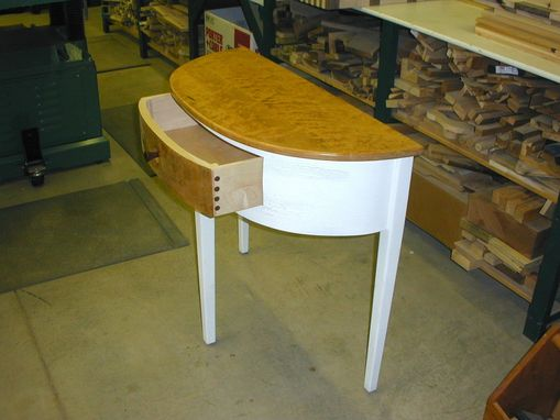 Custom Made 3 Legged 1/2 Oval Table
