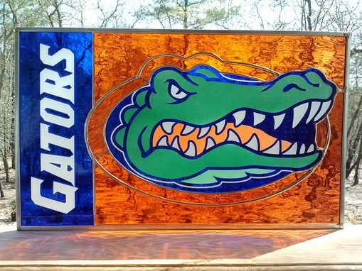 Custom Made Gators Stained Glass