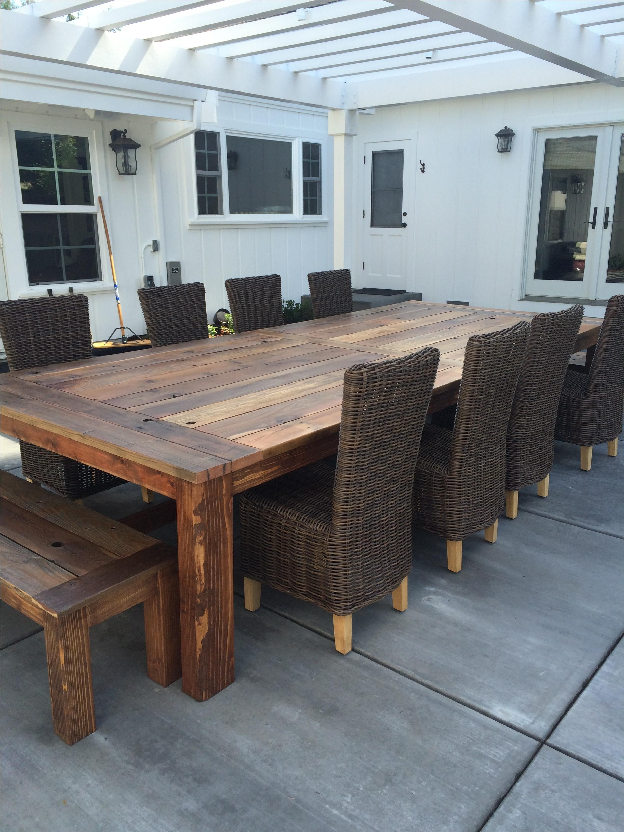 Custom Outdoor Furniture CustomMadecom - Salvaged wood farmhouse table