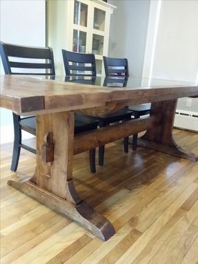 Custom Made Riddling Rack Trestle Table
