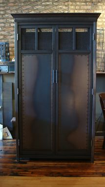 Custom Made Armoire - Tratitional Design In Steel