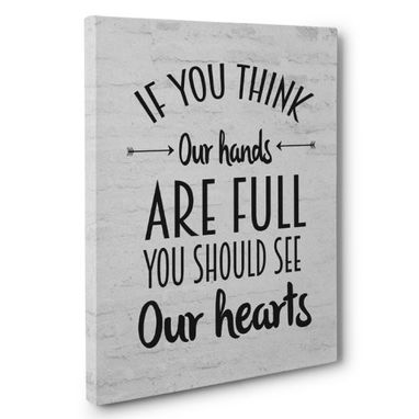 Custom Made You Should See Our Hearts Canvas Wall Art