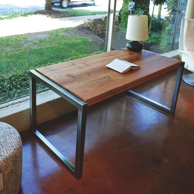 Custom Made Nuvo Desk - Reclaimed Long Leaf Pine Desk