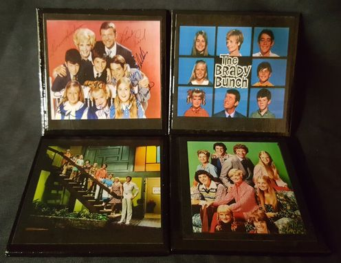 Custom Made Brady Bunch Ceramic Tile Coaster Set