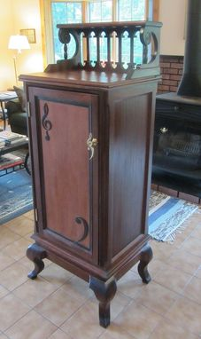 Custom Made Victorian Sheet  Music Cabinet