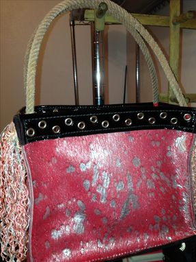 Custom Made Hair-On Leather Handbag