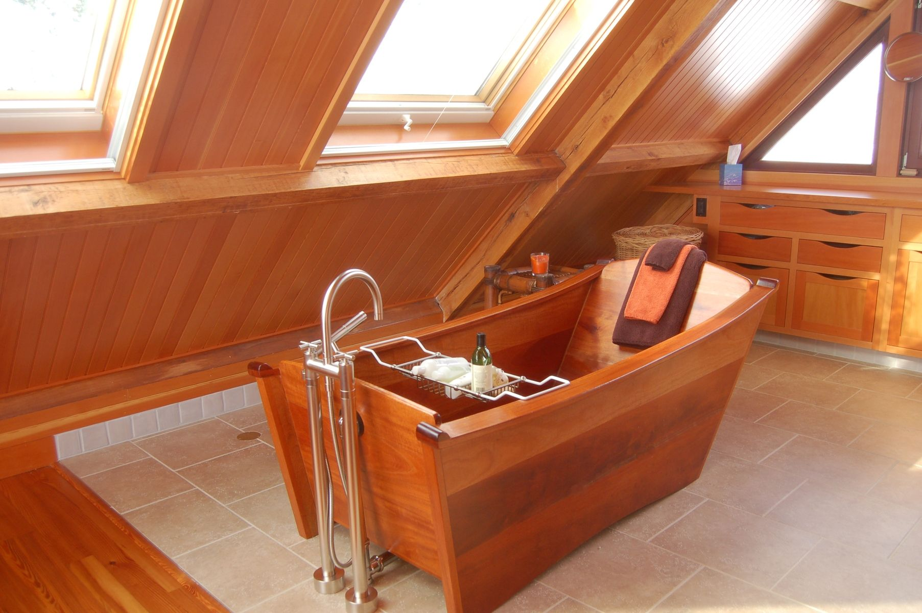 Hand Made Single Mahogany Bathtub by Bath In Wood Of Maine Llc ...