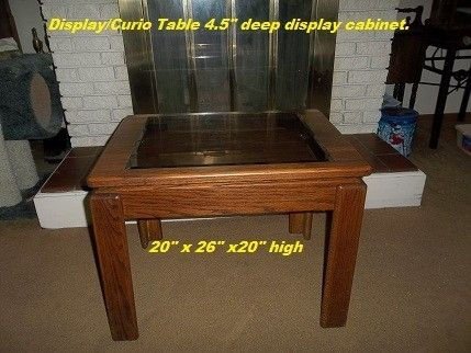 Custom Made Solid Oak Display/Curio Table.