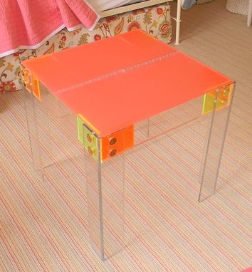 Custom Made Acrylic Kids Craft Table - Perfect Size For Small Seats.  Hand Crafted, Custom Options Avvailable