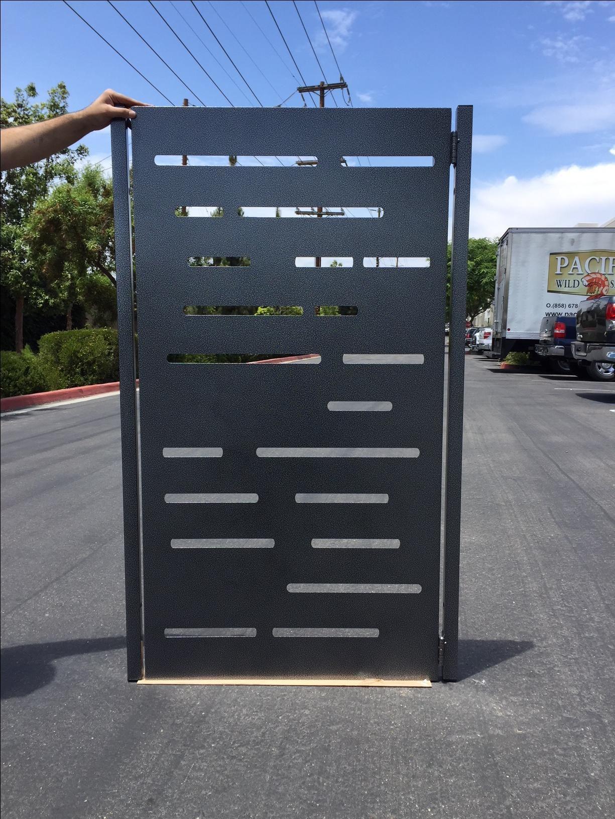 Buy A Hand Made Modern Metal Gate Steel Garden Walk Thru