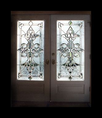 Custom Made Leaded, Beveled Glass Doors