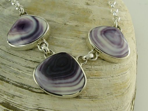 Custom Made Three Happy Clams Wampum Shell Necklace