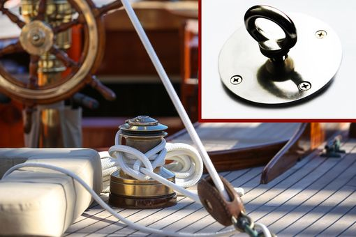 Custom Made Stainless Steel Boat Deck Holder Multi-Purpose For Furniture Or Rod, Etc.