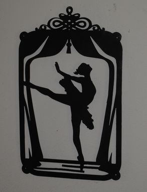 Custom Made Dancer Silhouette Wall Art By Covington Iron Works