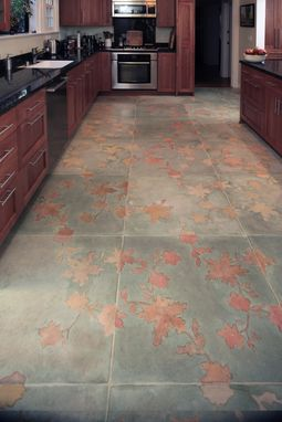 Custom Made Floorcloth Installation | Leaves And Shadows