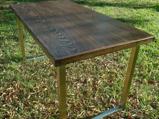 Custom Made Wide Plank Industrial Table Or Desk