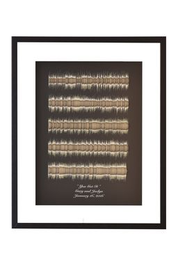 Custom Made Song Lyrics 3d Sound Wave Art; Wedding Song Display; Personalized Anniversary Gift